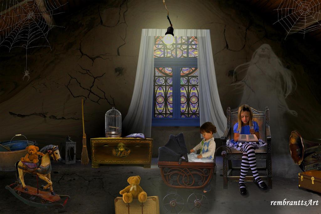 auf dem dachboden in the attic by rembrantt on deviantart. Black Bedroom Furniture Sets. Home Design Ideas
