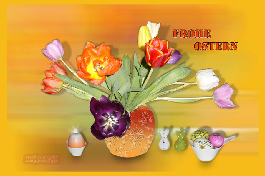 Frohe ostern happy easter by rembrantt on deviantart - Ostern wallpaper ...