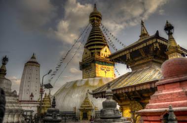 Swayambhu Stupa HDR by nabinmalakar