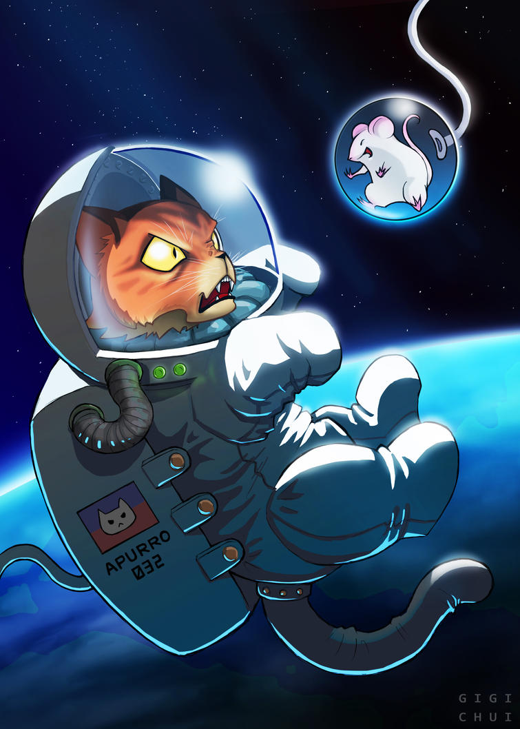 Spacecat and Ratstronaut by gigichui