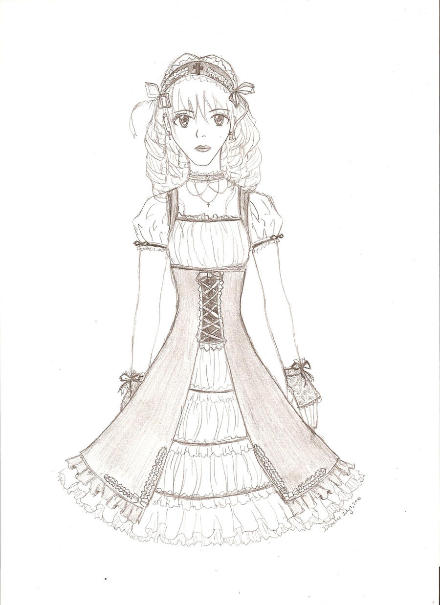 Gothic Lolita Dress Sketch By Disasterbynature On DeviantArt