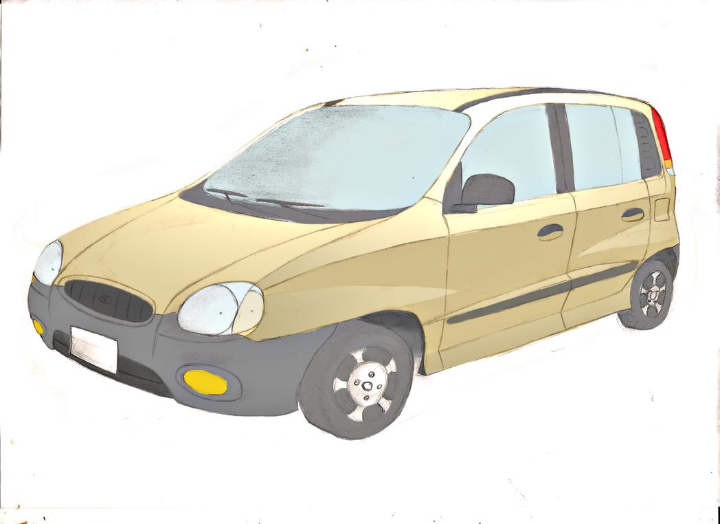 Practica de GIMP-Photoscape: Hyundai Atos 2000 by Tinten14