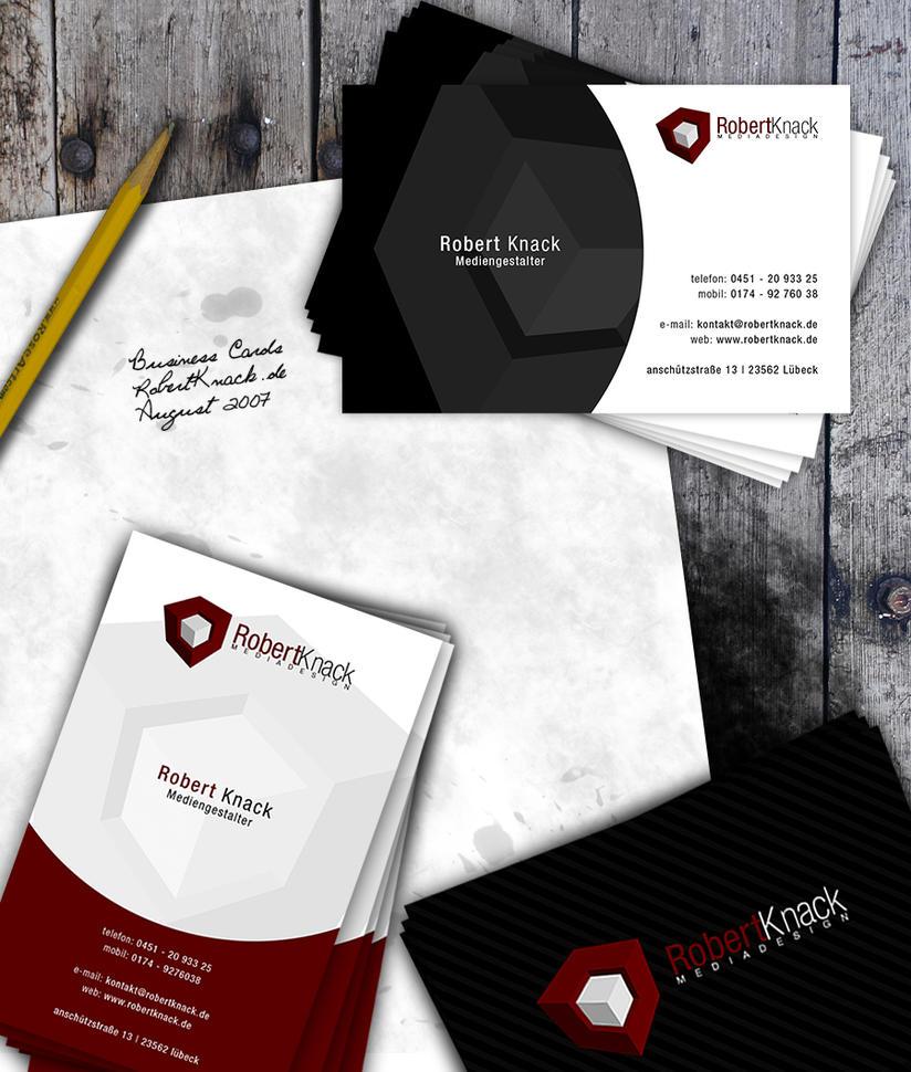 Business Cards Robertknack.de by knorke