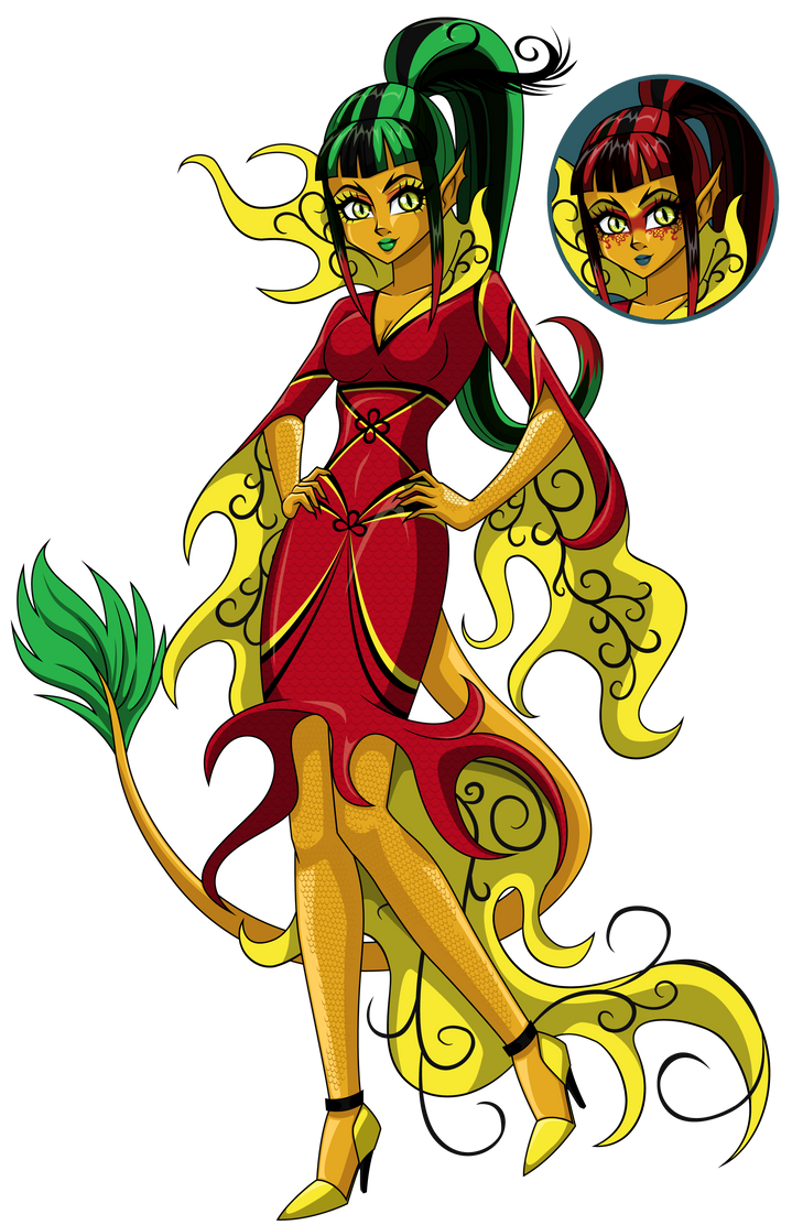 Jinafire Long Cartoon Jinafire Long by spark...