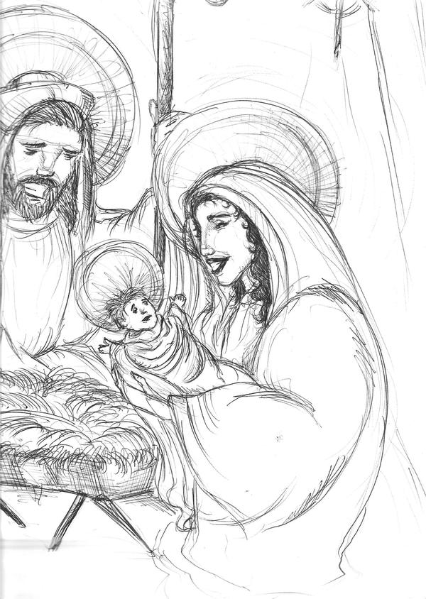 birth of jesus the messiah how to draw it