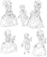 Marie Antoinette Chibi's by I-TsarevichAlexei13
