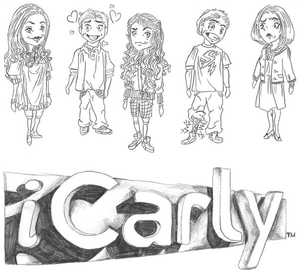 Icarly chibi 39 s by i tsarevichalexei13 on deviantart for Icarly coloring pages