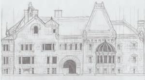 Richardsonian Romanesque Facade 2.