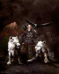 Odin the ruler of Asgard