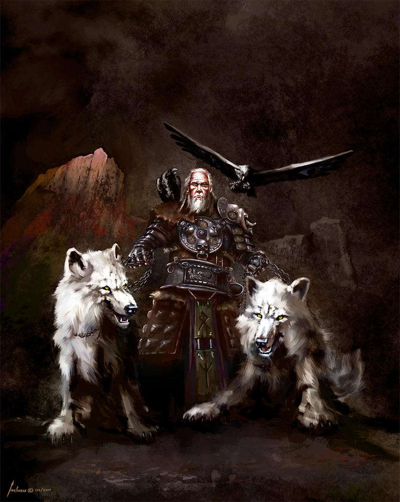 Odin the ruler of Asgard by Redan23