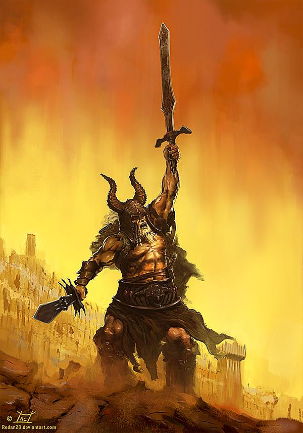 Diablo III - Barbarian by Redan23