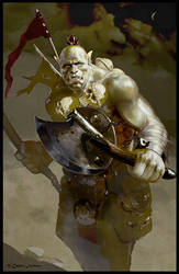 Orc warrior by Redan23