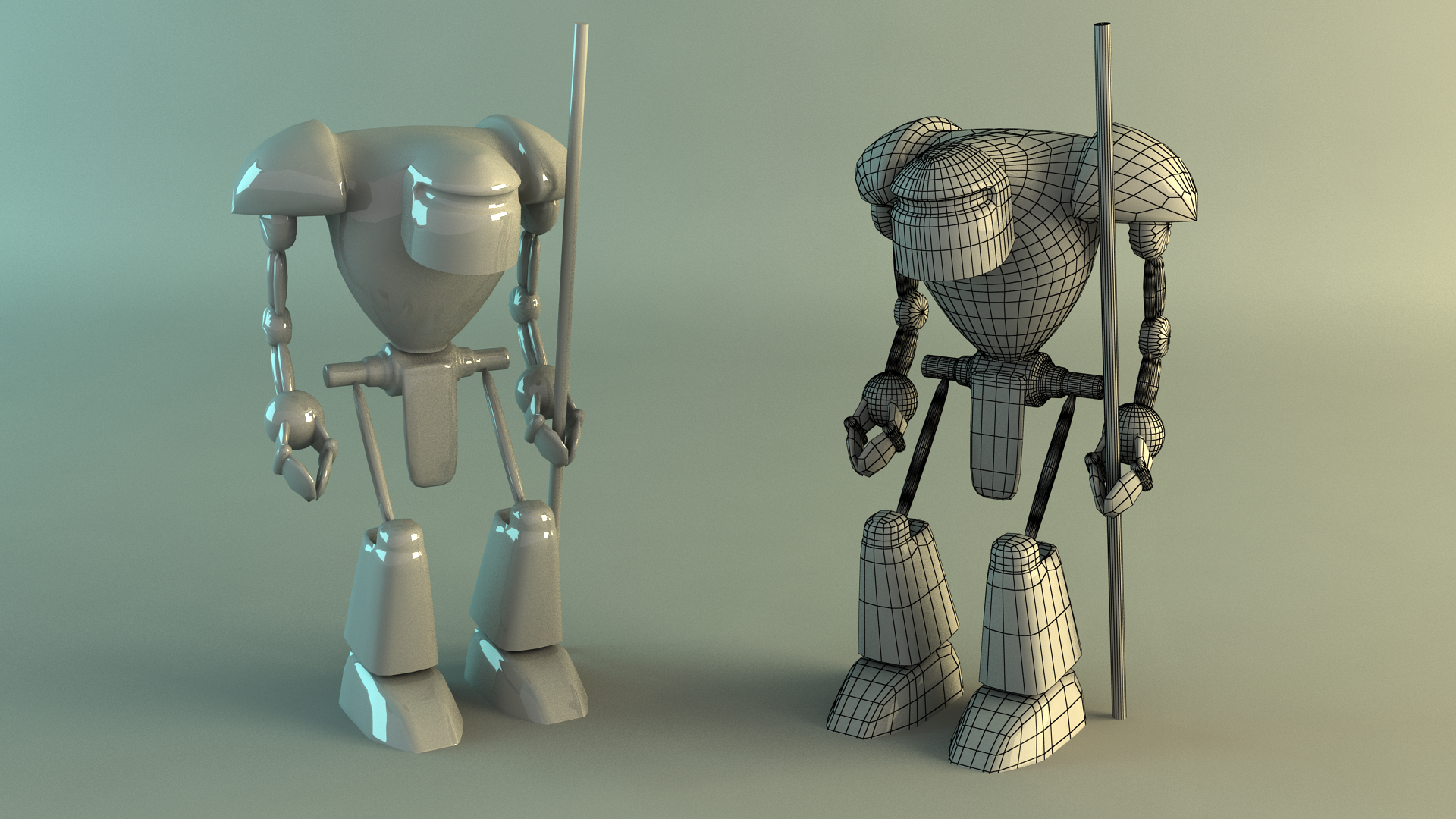 Robot 3D Model by Stake0113 on DeviantArt