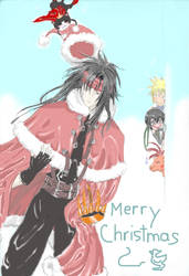 FFVII - Merry Christmas by bananatree