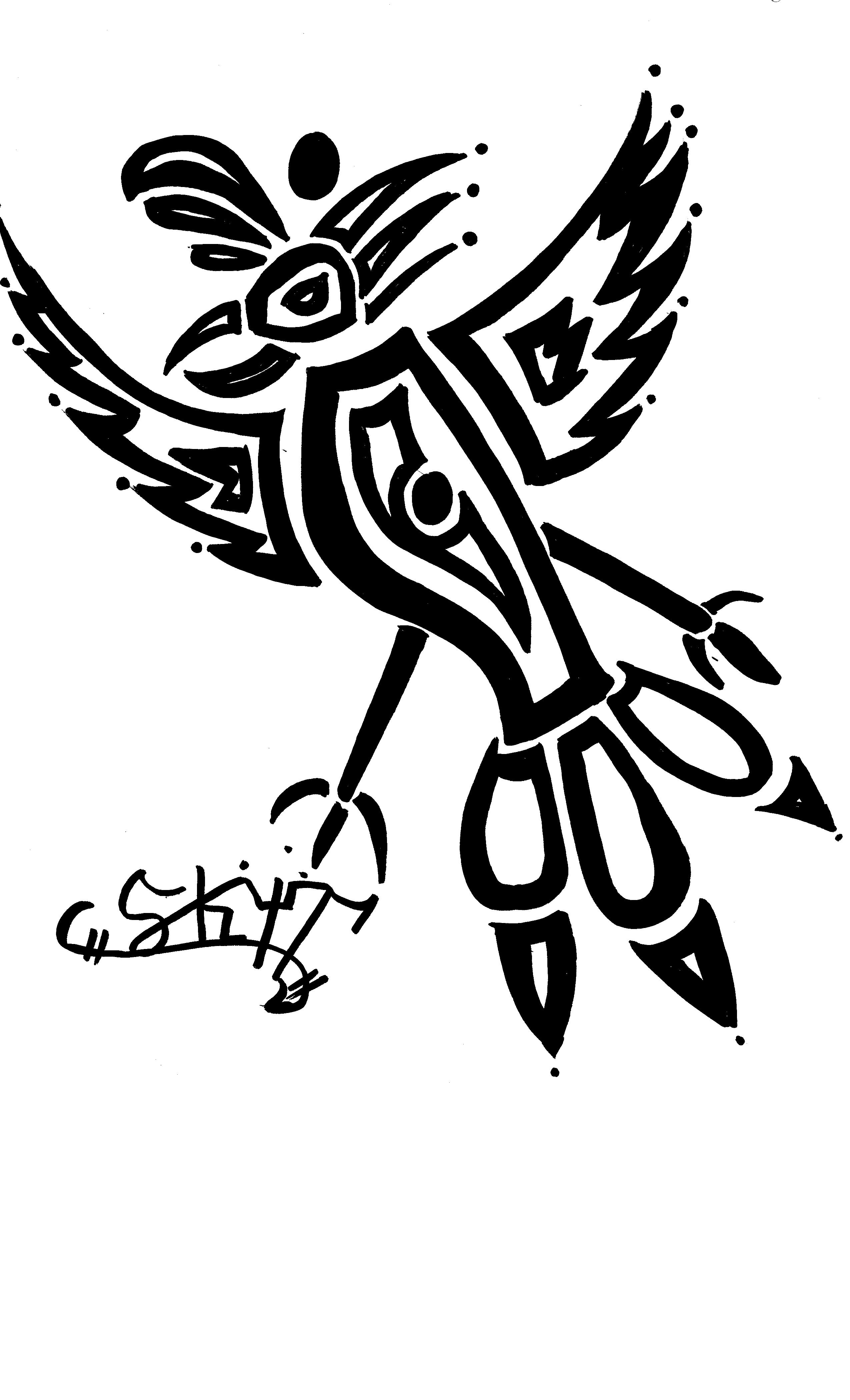 tribal art bird tattoo selling printouts by prohawkmen