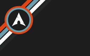 Arch Linux dark Grey with Orange, Blue and White