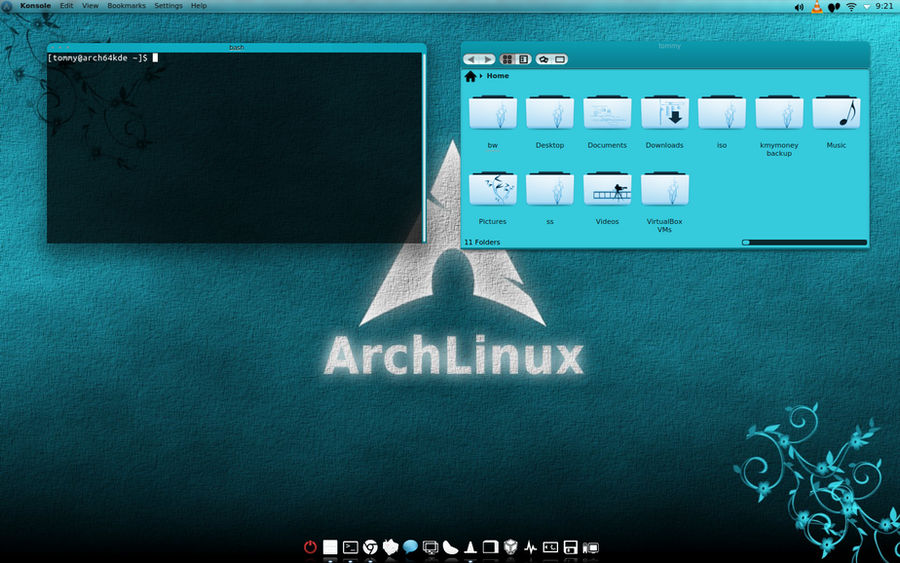 Arch Linux KDE 4 8 Turquoise by CraazyT on DeviantArt