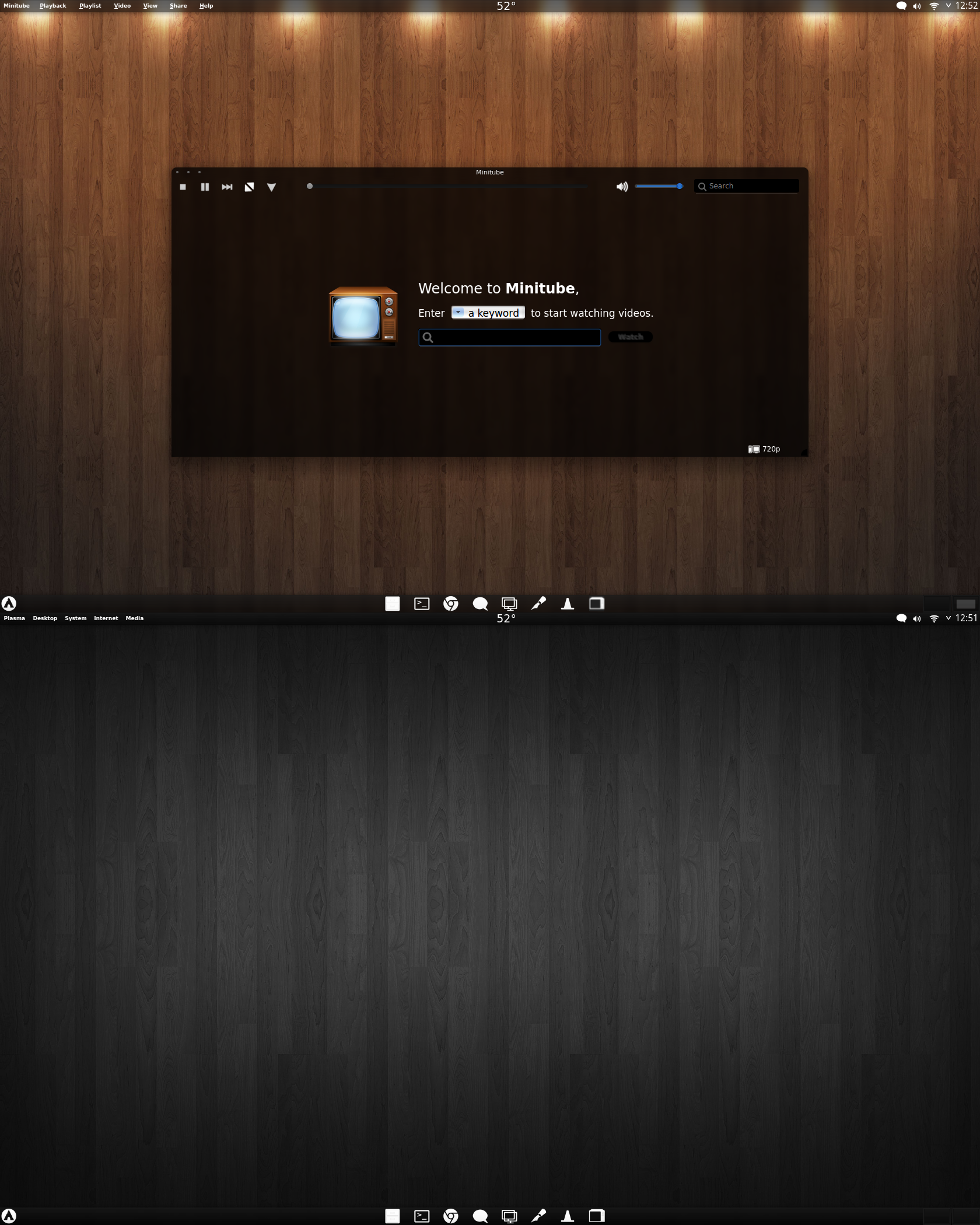 Arch KDE Black Transparent by CraazyT