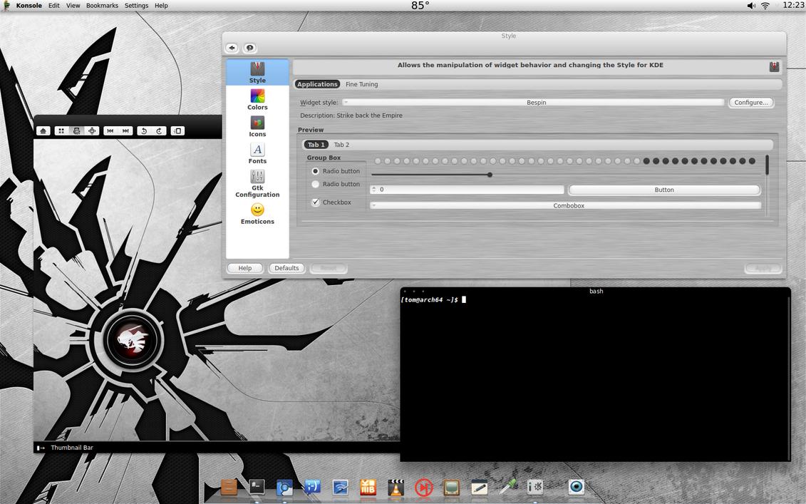 Arch KDE Metalized by CraazyT
