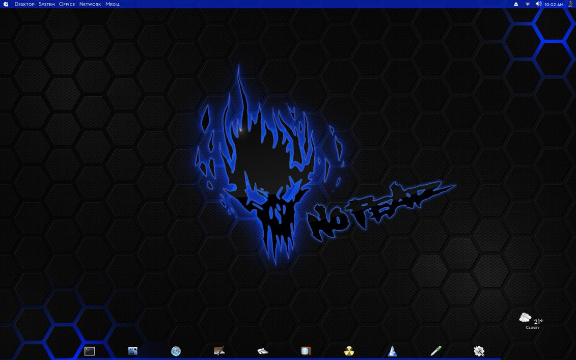 Kubuntu KDE Blue Transparent Be:Shell/Bespin by CraazyT