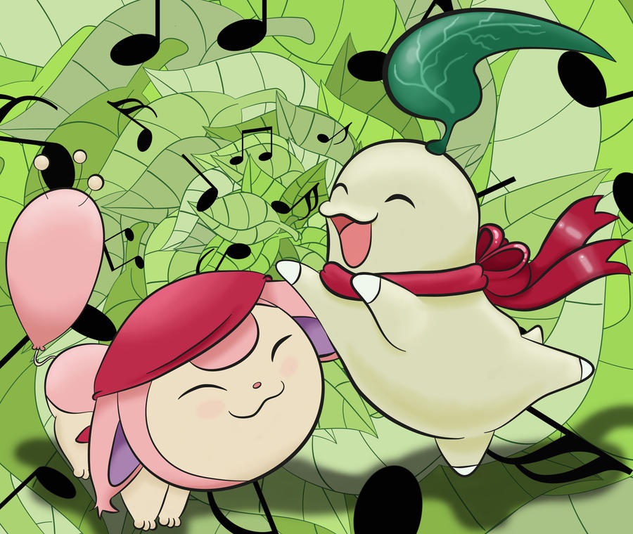 Skitty and Chikorita - Team Kiseki by LiviaRedo