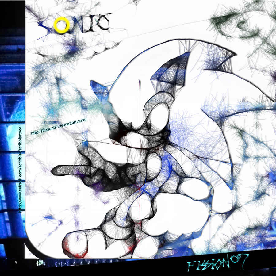 SONIC THE HEDGEHOG ART-2 by Fission07