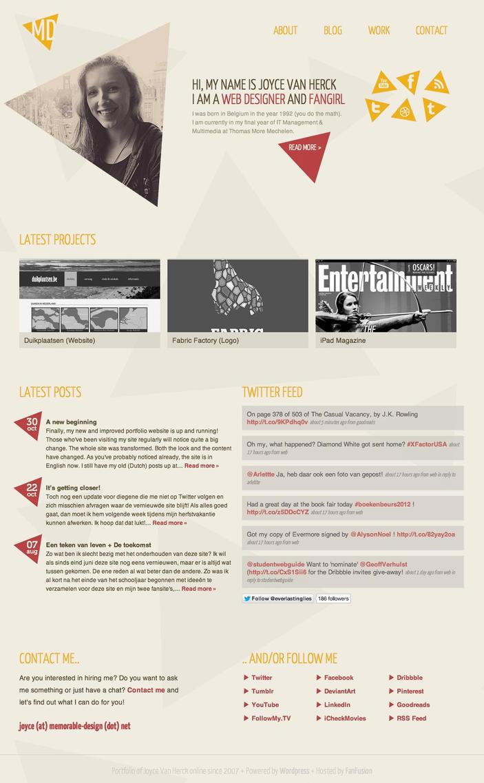 Renewed Portfolio Website by memorabledesign
