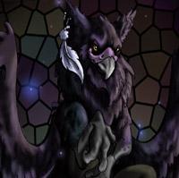 Black Griffon by Random-Moon-Fox