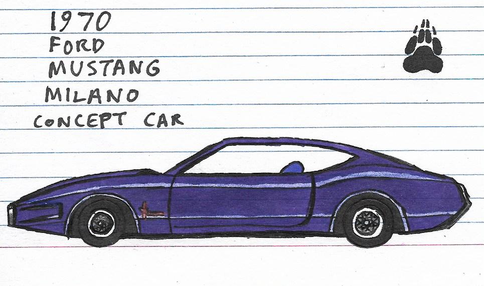 1970 Ford Mustang Milano Concept Car By Katarina G On Deviantart