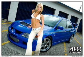 Lancer Evo and Kelly C Wall 01 by scarcrow28