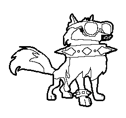 Animal jam lineart by thebikittensoftoday on deviantart for Animal jam arctic wolf coloring pages