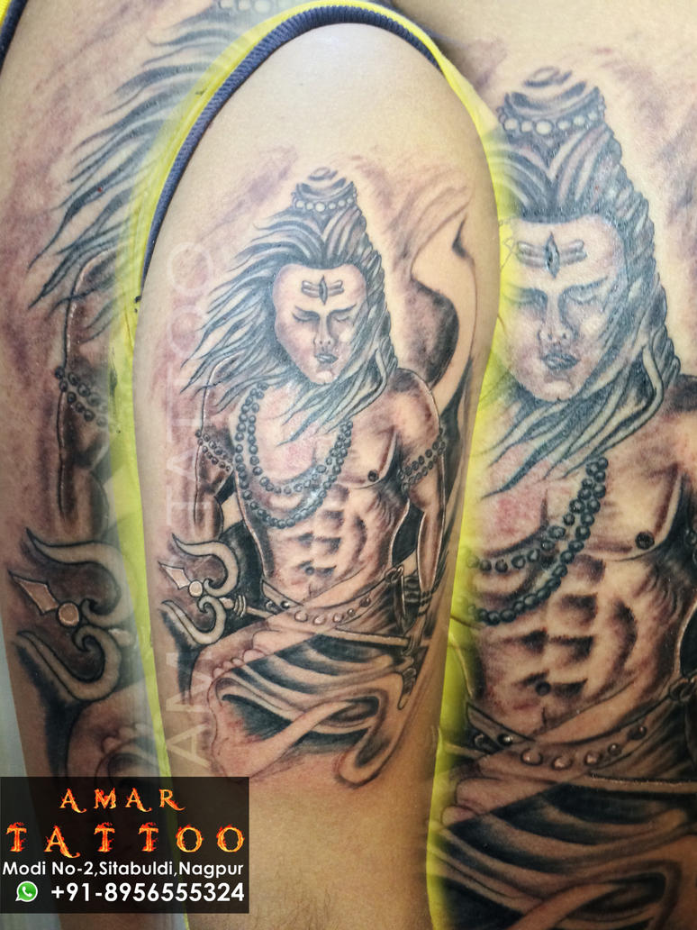 best lord shiva tattoo by amartattoo on deviantart. Black Bedroom Furniture Sets. Home Design Ideas