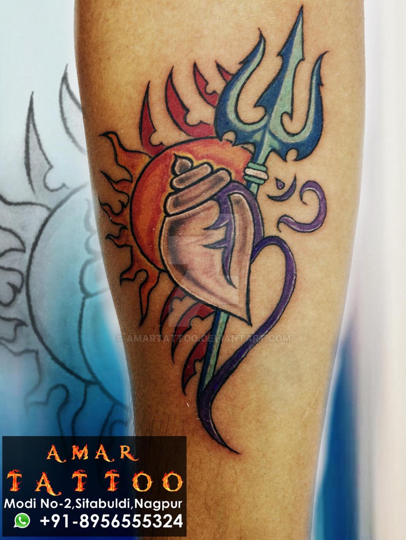 New Shiv Shankar Trishul Tattoos Image Gallery for free download