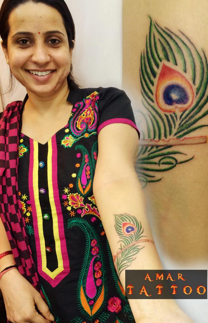 Peacock Back Tattoo Designs