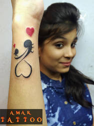 Mom  Girl Tattoo by AMARTATTOO