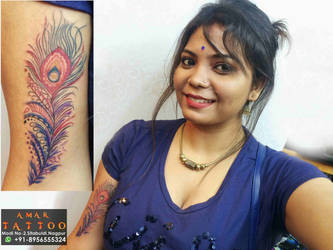 Feather Tattoo by AMARTATTOO