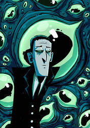 howard lovecraft by Nekr0ns
