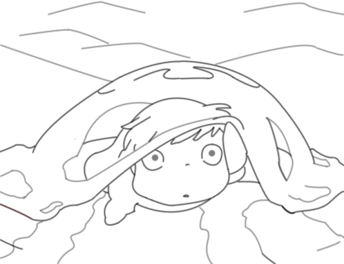 Ponyo by planetaryduality on deviantart for Ponyo coloring pages