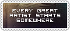 Stamp - Every Great Artist by KamuiSinen