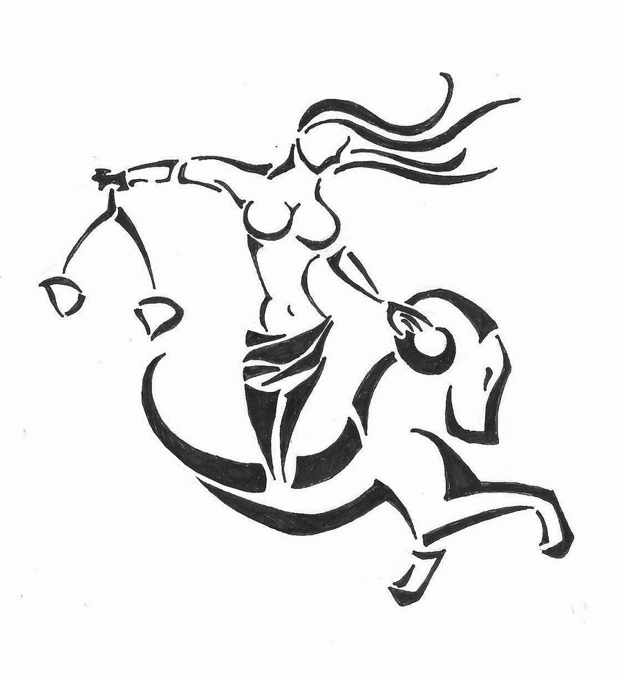Ram and libra tribal by claudiofg on deviantart for Aries and libra tattoo