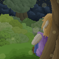 Pixel Art - Night time by firedragis