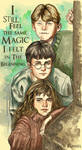 Young Harry, Hermione and Ron