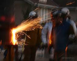 Arc Sparks - Iron Pour by leopardwolf