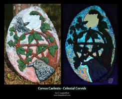 Corvus Caelestis - Celestial Corvids by leopardwolf