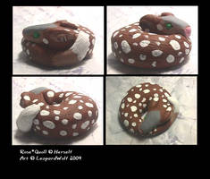 Rose Quoll Sculpt by leopardwolf