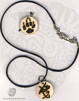 Fearless Wolf Paw Pendant by leopardwolf