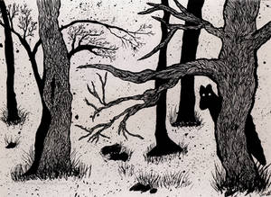 Werewoof In The Woods - Ink