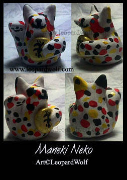 Maneki Neko - Sumo cat by leopardwolf