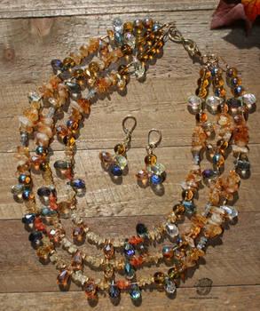 Moms Tri Topaz Jewelry Set