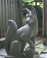 Shrine Fox 2 - Detail by leopardwolf